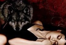 wolves and girls; / There are wolves, they would say. And there are stories about wolves and girls. Girls in red. All alone in the woods. About to get eaten up.  Wolves and girls. Both have sharp teeth