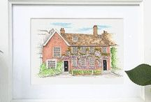 Etsy Shop / ErinRoseIllustration Etsy Store -Hand Drawn illustrations, bespoke stationery and personalised greetings cards.
