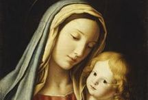 Panna Mária s Ježišom / Ježiš Kristus so svojou matkou Máriou.