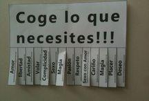 Types / Tipografías, frases txulas, cartelismo.