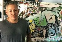Miguel Paredes / Pop artist and urban realist painter Miguel Paredes is the subject of the powerful images pinned here.  This board showcases the creative chaos that is Casa Wynwood, a design collaboration space, gallery, and event venue in Miami's Wynwood Arts District. High-end art, home decor, fashion, luxury products and more.