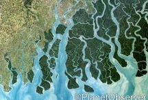 Water / Lakes, rivers, sea, ocean... Check out PlanetObserver favorite satellite images of Water.  www.planetobserver.com