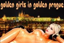 Golden girls in golden Prague