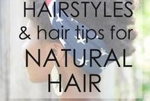 Hairstyles and Hair Tips for Natural Hair / Natural hair care tips and hairstyles. Hairstyles for natural and curly hair. Hairstyle for naturally curly hair. Updo styles. Twist out styles.