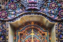 Colourful World / #architecture #colours #inspiration #moodboard