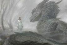 Bestiary / Fantasy creatures. Dragons, griffins, Pegasus, sea monsters, etc.