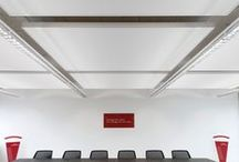 Techstyle® Ceilings / Our ceilings expertise, combined with our leading knowledge of precision textile engineering, led us to create a smooth textile ceiling with large lightweight panels.