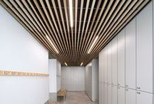 Wood Ceilings / Hunter Douglas Architectural wood ceilings feature durable construction; solid wood for our linear systems and a choice of many veneers and a selection of acoustical and decorative perforations for our tiles program.