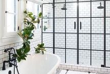 { Bathrooms } / A little bit of retro, a lot of pretty tiles, and a fully functional room - here are dream bathrooms.