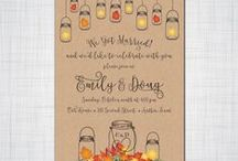 Wedding, Elopement and Event Invitations / Invitations I create for weddings, Elopement Receptions and Events