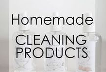 Homemade Cleaning Products / Homemade cleaning products that are safe for the environment... DIY cleaners for around the house to clean glass, scrub bathrooms and freshen rooms!