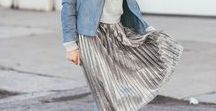 ABOUT YOU ❤ Midi Skirts / Combined with sweaters, cute blouses or edgy band t-shirts, the Midi skirt is coming back to the streets and catwalks of the world. Why we love this look? Because it can look elegant, casual and hip at the same time!