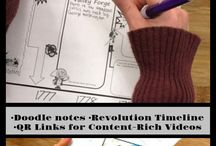 Cartoon Notes for US and Texas History / Doodle Notes with readings for US and Texas History