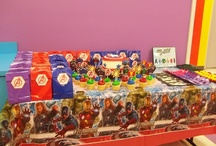 Avengers Party / Decorations I made for my son's Avengers party!