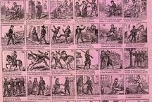 Colecciones - Aucas / Entre los materiales impresos que se conservan en el archivo destaca la colección de aucas y aleluyas que constituyen una muestra muy interesante de la literatura y de la imprenta populares de los siglos XVIII y XIX.
