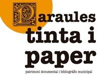 """Exposición """"Paraules, tinta i paper"""" (2012)"""