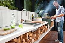 outdoor kitchens & cooking / the joy of outdoor cooking - bbq grills, outdoor kitchens,  entertaining areas, pizza ovens, green eggs