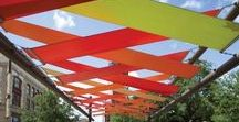 canvas & awnings / canvas and tensile shade elements, outdoor shade, canvas shade, retractable awnings, canvas awnings, shade sails
