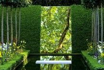 mirrors in the landscape / a collections of mirrors used in exterior garden areas and architecture, garden mirrors, landscape mirrors, mirrors in the garden
