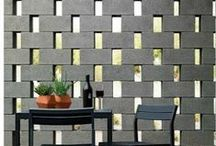 pierced & perforated walls / collection of pierced wall, screen wall, perforated wall, masonry wall openings, privacy wall, perforation