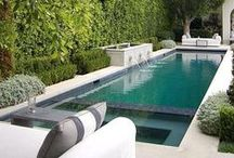 lap pools / selection of narrow and linear swimming pool designs for small spaces, narrow lots and for lap swimming. lap pools, private pools, raised pools, skinny pools.