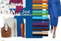 Сочетание с синим цветом / Сочетание синего цвета в одежде и интерьере