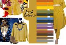 Сочетание с желтым цветом
