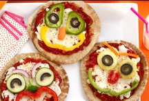 Pizza play time! / Getting children to design their own pizza toppings is a fun and easy way to introduce them to new veggies. Using colourful ingredients chopped up into different shapes and size, they could make their fave cartoon characters, re-create their fave hobby, think about the time of year or just make a silly face! / by Children'sFoodTrust