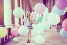 Balloons / Flying high in the sky...up..up and away, among the clouds / by Hailey Langmeyer