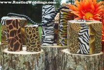 Safari Wedding Centerpieces / Safari Wedding Centerpieces, Ideas, Buffets. Animal Print Wedding Centerpiece Ideas.