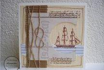 DIY - kaarten - zee, maritiem