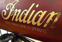 Old indian motorcycles.