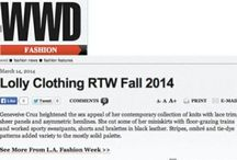 LOLLY Clothing Press / Publicity and press for LA's hottest fashion label: LOLLY Clothing, RTW luxury knitwear for LOLLY girls everywhere. Sold in 600+ boutiques nationwide and made in Los Angeles with love. Committed to fair labor and foxy hemlines. www.LOLLYClothing.com