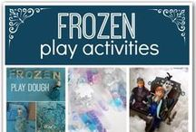 Favorite Things // Frozen / Frozen obsession. Activities and ideas to keep their attention
