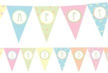 Printables..! / Ιδέες για πάρτυ γενεθλίων!