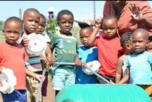 Santa Shoebox - Hippo Rollers / Hippo Water Rollers distributed by the Santa Shoebox project in South Africa. 12 April 2016 - Ntambanana, KZN.