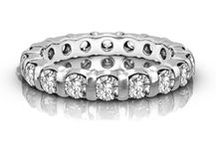 Eternity Rings / Diamond Eternity Rings are the perfect way to honor a special occasion and are the gift of everlasting love, due to their creation with one unbroken band.