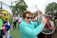 Billie Jean King - Atria's Well-Being Coach / We are pleased to call Billie Jean King a member of the Atria family. Billie Jean serves as Atria's spokesperson, and the company's first-ever Well-Being Coach.