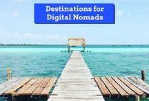 Destinations for Digital Nomads / Du bist ein digitaler Nomade und weißt nicht, was dich in einem Land erwarten wird? Wie ist das Internet? Wo bekommst du eine SIM-Karte? Wo kommst du am günstigsten unter? Ich beantworte dir diese Fragen!