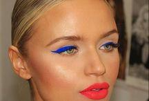 03/17 Blue eye make up orange lips