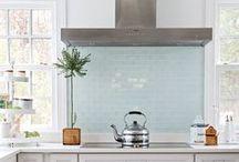 Kitchen Inspiration / Farmhouse kitchen ideas featuring lots of subway tile.
