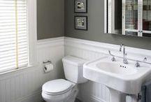 Bathroom Inspiration / Modern Farmhouse bathroom decorating ideas.