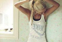 Lounge / Workout Wear / by Kristin Villalovos