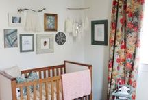 Baby Girl Nursery / Rustic nursery ideas for baby girls featuring woodland themes and soft pinks.