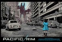 Pacific Rim Screenprint Series by Odd City / Odd City commissioned a group of artists to produce studio licensed limited edition print series for Guillermo del Toro's epic new movie, Pacific Rim.