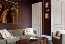 burgundy and grey