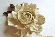 из кожи цветы и не только