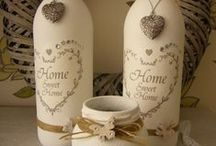 Bottles... / It's amazing to decorate bottles, you'll be impressed of what your can do with them...