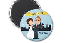 Save the dates / Willen jullie er zeker van zijn dat alle mensen die jullie op de bruiloft willen hebben ook daadwerkelijk kunnen komen?  Verstuur dan save-the-date-kaartjes, zodat de gasten ruim op tijd weten welke datum ze vrij moeten houden!