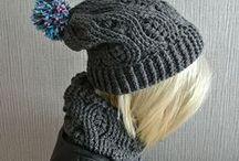 Crochet - hat gloves scarf wrap